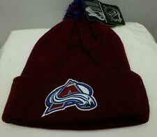 Colorado Avalanche NHL Knit Beanie Hat with Pom top cuffed New NWT by Zephyr