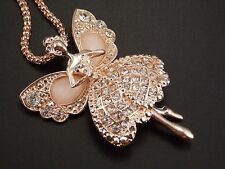 Golden chain Fashion jewelry Cute Shiny crystal elf angel pendant Necklace #F