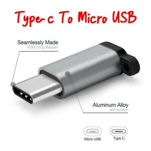 Portable Type-C to Micro USB Adapter Keychain Convert Connector for Samsung Huaw