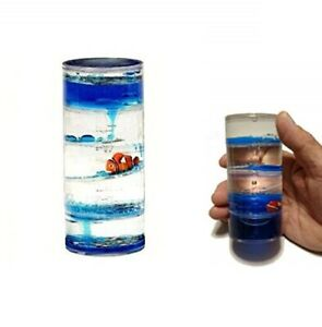 Clown Fish Liquid Motion Spiral Timer Visual Fidget Toy For Kids