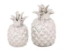 Ananas Deko silber Keramik Trend