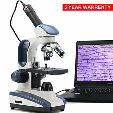 SWIFT 40X-1000X Students Biological Compound Microscope with USB Digital Camera