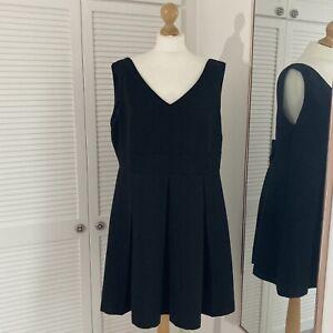 Savida Bow Detail Dress Size 18 Black Glitter Sparkly Sleeveless Occassion Party