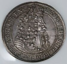 Austria 1704 Leopold Hogmouth Silver Thaler NGC MS62