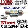 31mm 3 SAMSUNG SMD LED 269 C5W SV8 CANBUS NO ERROR WHITE NUMBER PLATE LIGHT BULB
