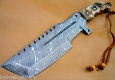 CUSTOM DAMASCUS STEEL HUNTING TRACKER KNIVES / BOWIE / DAGGER / RAM HORN HANDLE