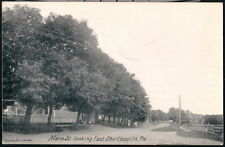 SHORTLESVILLE PA Main Street Town View Looking East Vintage B&W Postcard Old