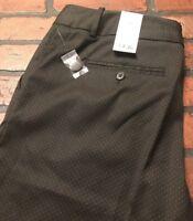 Worthington Modern Fit Black Ticking Dot Women's Capri's Size 12 NWT