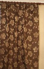 """BARGAIN BROWN & GOLD HEAVY WEIGHT DOOR CURTAIN 50 x 90"""" DROP"""