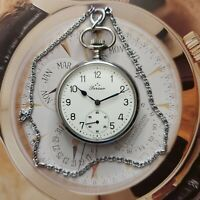 OROLOGIO DA TASCA PERSEO FS FERROVIE DELLO STATO POCKET WATCH 144361 CORT 738 !!