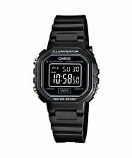 CASIO LA-20WH-1B Standard Digital Women's Dress Chrono Alarm Resin All Black