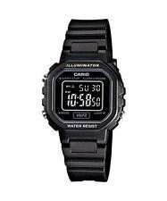 CASIO LA-20WH-1B Standard Digital Women's Dress Chrono Alarm Resin All Black