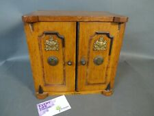More details for  tea caddy oak & mahogany coat of arms uk colonial office? antique rtg/ml