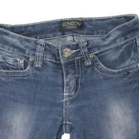 London Women's Bongo Special Low Rise skinny Stretch Jeans Pants Juniors Size 0