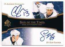 2007-08 SP AUTHENTIC SIGN OF THE TIMES DUAL AUTOGRAPH ANDREW COGLIANO SAM GAGNER