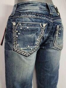 Miss Me Low Rise Slim Stretch Women's Denim Jeans 26 x 33 JE5408B10L