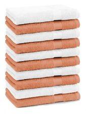 Betz 10 Stück Seiftücher Seiflappen PREMIUM 30x30cm orange & weiß