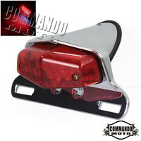 Rear LED Lucas Taillights Tail Lights Brake Lamps For Harley Chopper Cafe Racer