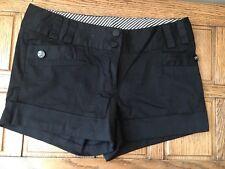 Cotton 10 denim shorts Hot pants summer beach holiday Black New Look Stripe Vgc