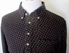 Ralph Lauren Shirt Men Size XL Long Sleeve Pull Over Navy Blue LN Geometric