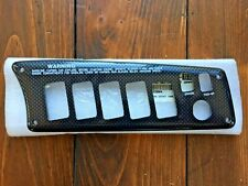 Malibu Boat Blank Right Side Switch Panel 9 1/4'' x 3'' Carbon Style Trim NEW!!!