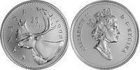 Canada 1990 25 Cents Choice BU UNC MS-63 Quarter!!