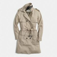 New Coach F84571 Cotton Summer Trench Coat Khaki NWT $498 MSRP