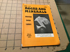 april 1971 - Rocks & Minerals mineralogy geology lapidary #379 -
