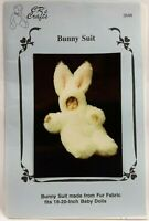 """1988 Vintage CRs Crafts Sewing Pattern 3548 Bunny Suit 18""""-20"""" Baby Dolls 8229F"""
