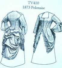 Truly Victorian TV410Old West 1870 Bustle Polonaise long top sewing pattern