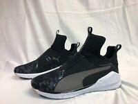Puma Strap Knit Women's Black White Running Training Sneakers 7.5 38  High