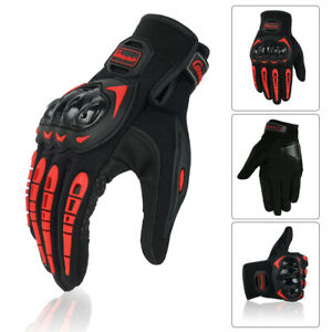 Men's Breathable Reinforced Knuckle Wear Resistant Full Finger Motorcycle Gloves