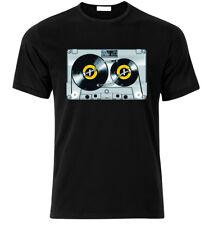 Old school DJ tape vinyl retro Cassette 80's 90's Music  T-SHIRT  T Shirt S-XXL