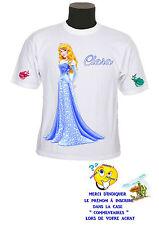 tee shirt fille princesse aurore personnalisable prénom réf 132