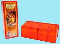 DRAGON SHIELD FOUR COMPARTMENT ORANGE CARD STORAGE BOX NEW Case Dividers ccg mtg