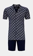 Ringella Pyjama kurz Größe 4xl Schlafanzug Shorty blau Durchgeknöpft