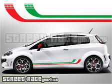 Fiat Punto side racing stripes 004 Italian flag decals vinyl graphics stickers