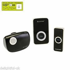 Lloytron B7506BK-C Wireless Musical Door Bell with 2 Chimes 1 Plug In/1 Portable