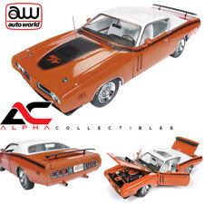 AUTOWORLD AMM1148 1:18 1971 DODGE CHARGER R/T W/ SUNROOF ORANGE MCACN LTD ED