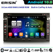 8-Core 64GB Android 10.0 Car Stereo For VW Polo Golf MK4 T5 Peugeot 307 Ford DSP