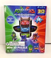 NEW Cardinal PJ MASKS Mini 3D Puzzle 15pc GEKKO CATBOY OWLETTE HEADQUARTERS Toy
