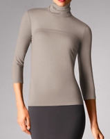 WOLFORD Women's Light Merino Turtleneck Pullover, Silver Cloud, size L RRP £200