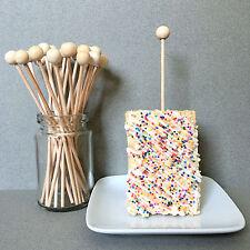 """6"""" Wooden Lollipop Sticks, Rock Candy Sticks, Ball End Lollipop Sticks, Bulk"""