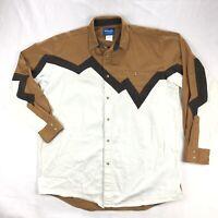 Wrangler Mens XLT Western Charlie Brown Stripe Pearl Snap Long Sleeve Shirt