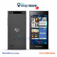 BlackBerry Leap Black STR100 - 4G LTE - 16GB 2GB 8MP Unlocked Smartphone