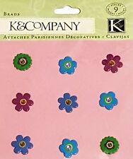 K & COMPANY EMBELLISHMENTS - 30-440654 - 9 GEMSTONE FLOWER BRADS