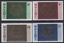 REPUBLIC OF MALAWI -1969- ILO 50th. Anniv. 1919-1969 - MNH Set/4 - Sc. #110-13