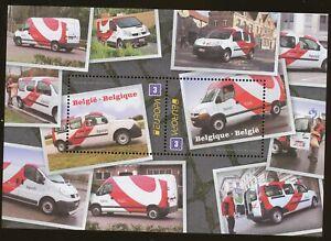 [PG1008] Belgium 2013 EUROPA postal vehicles good sheet very fine MNH