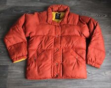 Vtg ALPINE DESIGNS Puff Jacket 70s Orange Down Puffer Coat Warm! Women M Men S