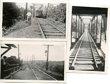 Q944 RP(3) 1940s CITY LINES WEST VIRGINIA RAILWAY TRACK BRIDGE ROW PHOTOS